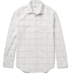 Club Monaco Slim-Fit Windowpane-Checked Cotton Shirt