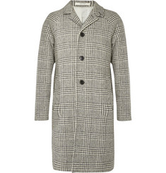 Club Monaco - Prince of Wales Checked Merino Wool Overcoat