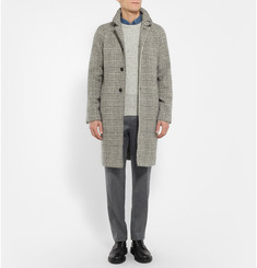 Club Monaco Prince of Wales Checked Merino Wool Overcoat