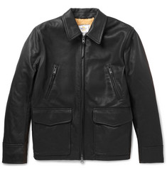 Club Monaco + Golden Bear Shearling-Lined Leather Jacket