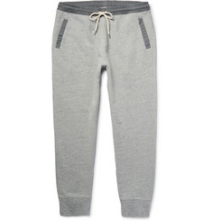 Club Monaco - Tapered Contrast-Trimmed Loopback Cotton-Jersey Sweatpants