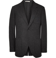 Club Monaco New Grant Worsted Slim-Fit Mélange Shetland Wool Blazer