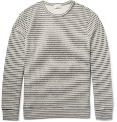 Club Monaco - Striped Knitted Cotton Sweatshirt