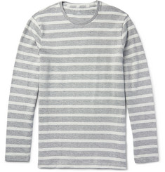 Club Monaco - Striped Woven Cotton Sweatshirt