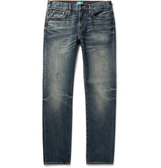 Club Monaco Slim-Fit Distressed Washed-Denim Jeans