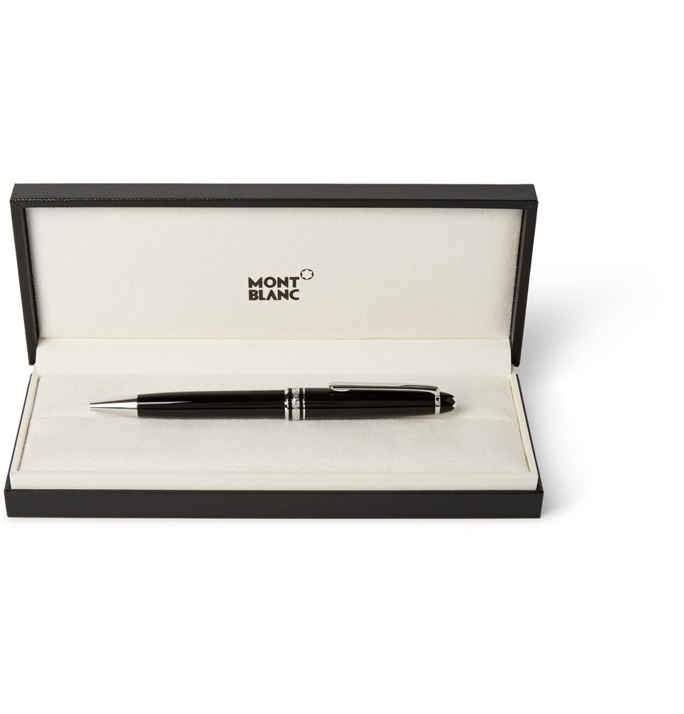 Montblanc Meisterstück Classique Resin and Platinum-Plated Ballpoint Pen