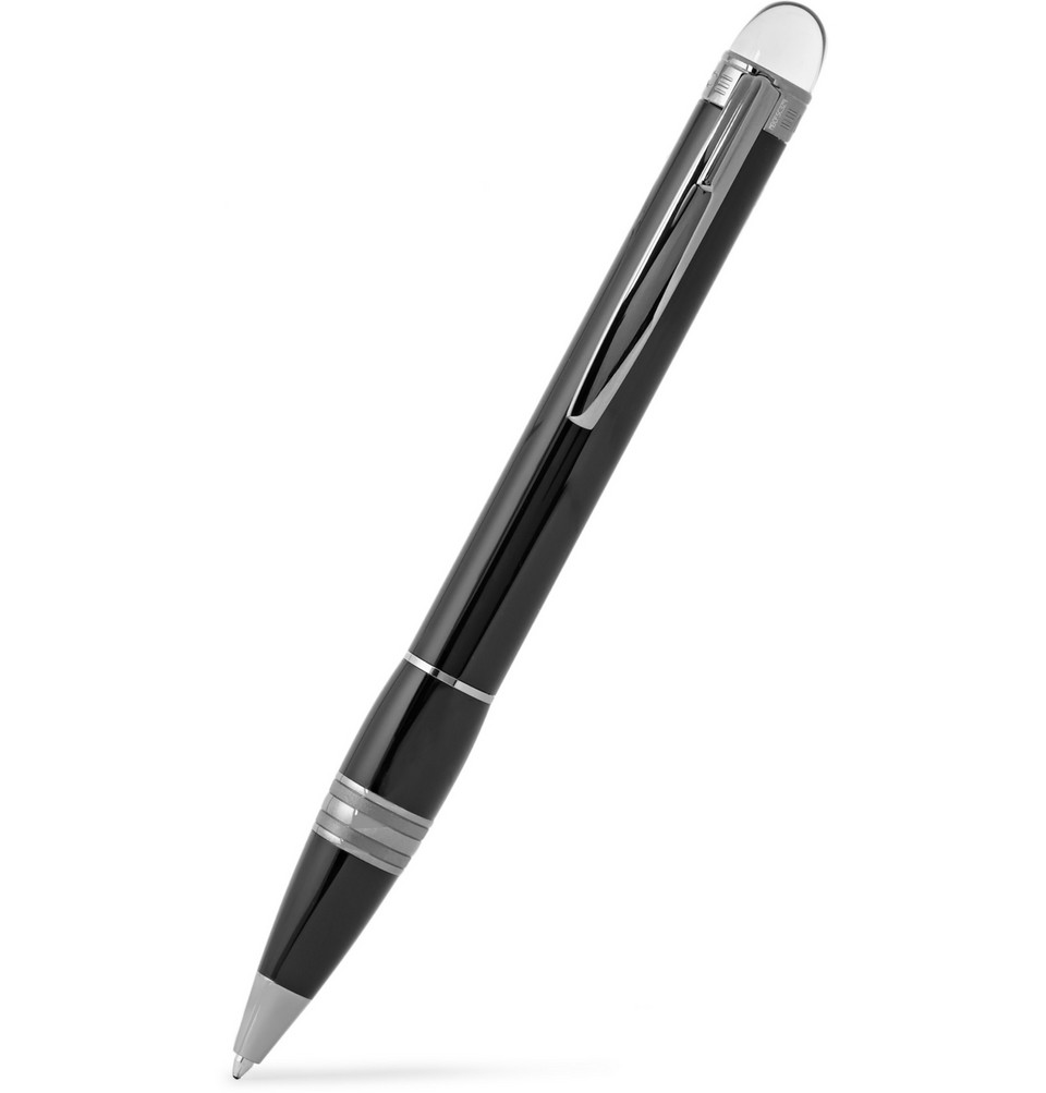 Montblanc Starwalker Midnight Platinum-Plated and Resin Ballpoint Pen