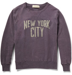 Remi Relief Printed Washed Loopback Cotton-Jersey Sweatshirt