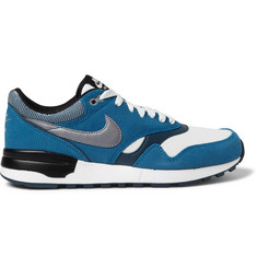 Nike Air Odyssey Suede, Leather and Mesh Sneakers