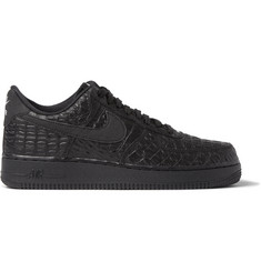 Nike Air Force 1 LV8 Crocodile-Embossed Leather Sneakers