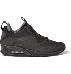 Nike Air Max 90 Mid Winter Leather and Mesh Sneakers