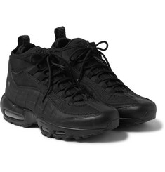 Nike - Air Max 95 Leather, Canvas and Mesh Sneakerboots