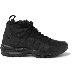 Nike Air Max 95 Leather, Canvas and Mesh Sneakerboots