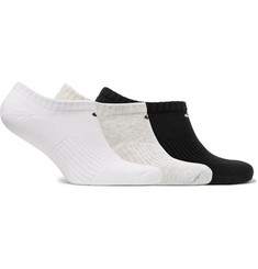 Nike Three-Pack No-Show Cushioned Cotton-Blend Socks