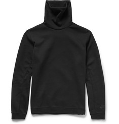 Nike Funnel-Neck Cottton-Blend Tech Fleece Sweatshirt