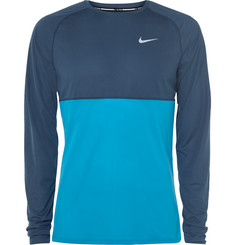 Nike Running Two-Tone Perforated Dri-FIT Jersey Top