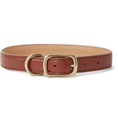 Shinola Leather Dog Collar