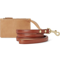 Shinola Leather Dog Leash and Pouch Set