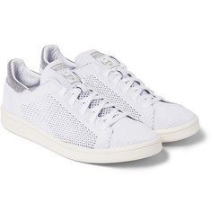 adidas Consortium Stan Smith Reflective-Trimmed Primeknit Sneakers