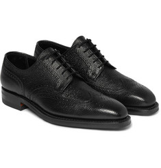 George Cleverley Henry Textured-Leather Brogues
