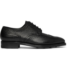 George Cleverley Henry Textured-Leather Wingtip Brogues