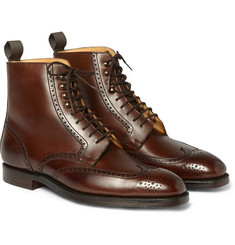 George Cleverley Bryan Leather Brogue Boots