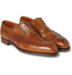 George Cleverley Reuben Burnished-Leather Oxford Brogues