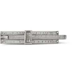 Foundwell Vintage Sterling Silver Slide Rule Tie Clip
