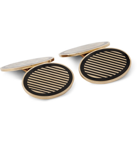 foundwell vintage male 188971 foundwell vintage 1950s 14karat gold and enamel cufflinks black