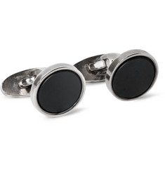 Foundwell Vintage - 1960s Georg Jensen Silver and Bloodstone Cufflinks