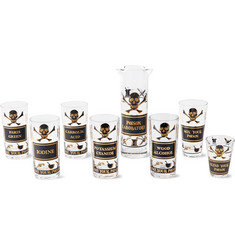 Foundwell Vintage Name Your Poison Eight-Piece Drinkware Set