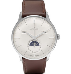 Junghans Meister Kalandar Steel and Leather Watch