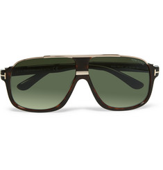 Tom Ford Elliot Aviator-Style Tortoiseshell Acetate Sunglasses