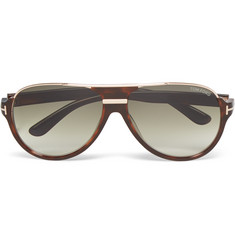Tom Ford Dimitry D-Frame Tortoiseshell Acetate Sunglasses