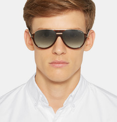 Tom Ford - Dimitry D-Frame Tortoiseshell Acetate Sunglasses