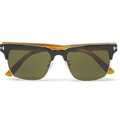 Tom Ford Louis Split-Frame Acetate and Metal Sunglasses