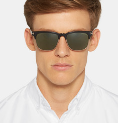 Tom Ford - Louis Split-Frame Acetate and Metal Sunglasses