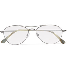 Tom Ford Aviator-Style Metal Optical Glasses