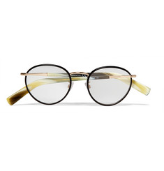Tom Ford Round-Frame Acetate and Metal Optical Glasses