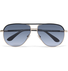 Tom Ford Cole Aviator-Style Acetate and Metal Sunglasses