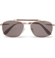 Tom Ford Marlon Aviator-Style Metal Sunglasses