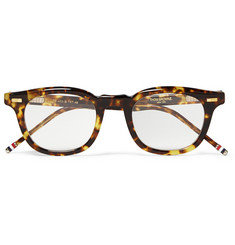 Thom Browne Square-Frame Tortoiseshell Acetate Optical Glasses
