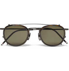 Thom Browne Tortoishell and Metal Sunglasses