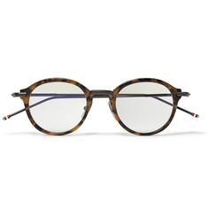 Thom Browne Tortoiseshell Round-Frame Optical Glasses