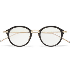 Thom Browne Round-Frame Acetate and Metal Optical Glasses