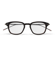 Thom Browne Square-Frame Layered Acetate Optical Glasses