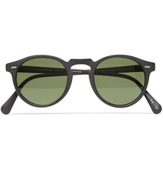 Oliver Peoples Gregory Peck Matte-Acetate Round-Frame Sunglasses