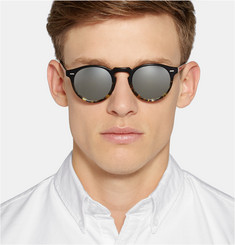 Oliver Peoples Gregory Peck Acetate Round-Frame Sunglasses