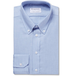 Kingsman - + Turnbull & Asser Blue Brushed-Cotton Shirt