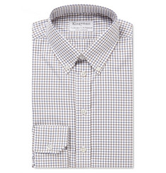 Kingsman - + Turnbull & Asser Tatershall Checked Cotton-Twill Shirt